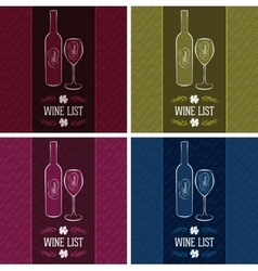 set templates for cover menus and wine vector image