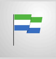 Sierra leone waving flag design background vector