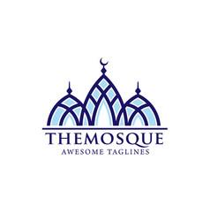 simple minimalist mosque building logo vector image