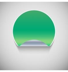 Special green sticker vector