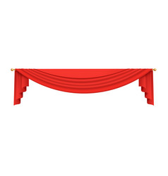stage theater or movie curtain top red vector image