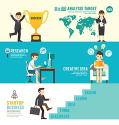 Startup Business design concept people set vector image