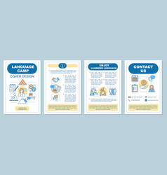 summer language camp brochure template vector image