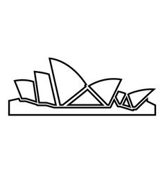 Sydney opera house icon black color flat style vector