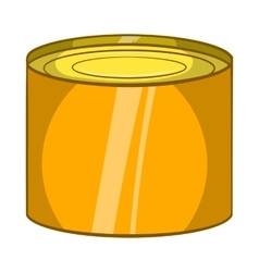 Tin packaging icon cartoon style vector