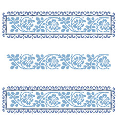 Vintage traditional lace ornament decor vector