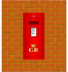 Wall Mounted Post Box vector