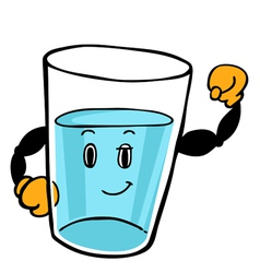 Water Glass Character vector image