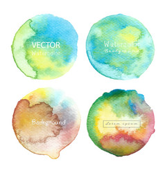 watercolor circle set on white background vector image