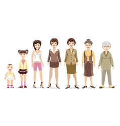 Woman generations vector image