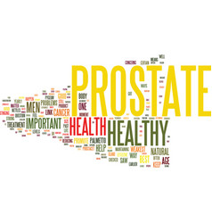 Your prostate is your weakest link text vector