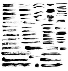 Black paint brush strokes collection vol 2 vector image vector image