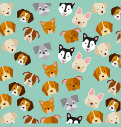 icon set love dogs vector image vector image