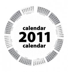 simple creative calendar of 2011 vector image