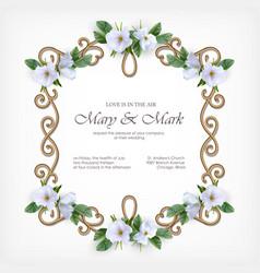 wedding decorative frame vector image vector image