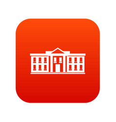 white house usa icon digital red vector image vector image