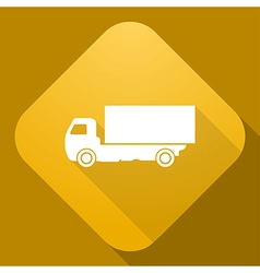 icon of truck with a long shadow vector image