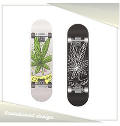 Medical marijuana skateboard ten vector