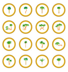 palm icon circle vector image