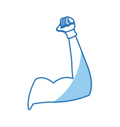 strong arm gym muscle design graphic vector image