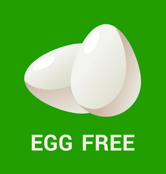 egg free logo icon flat for vector image vector image
