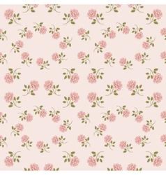 Pink vintage rose pattern Seamless vector image vector image