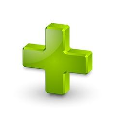 Plus or medical cross symbol vector image vector image
