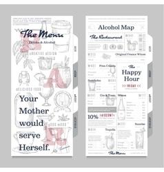 Restaurant or cafe menu vintage design template vector