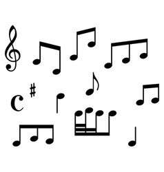 Set of music icons vector image