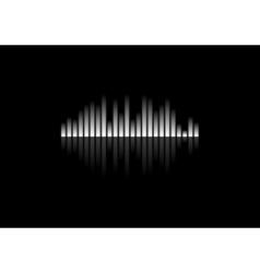 White concept equalizer design on black background vector image