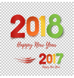 Happy new year 2017- 2018 template for poster vector