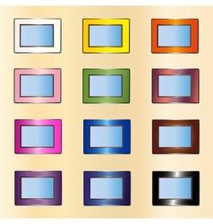 many photo frames vector image vector image