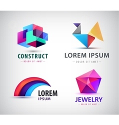 set of colorful abstract logos Design vector image