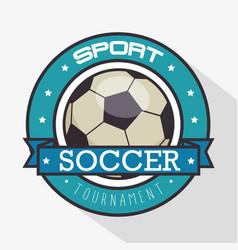 soccer logo sport vector image vector image