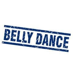 square grunge blue belly dance stamp vector image vector image