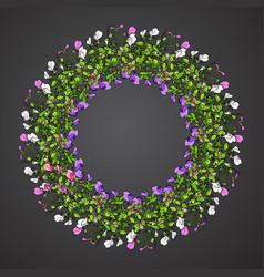 sweet pea wreath vector image vector image