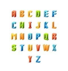 3d retro font vector