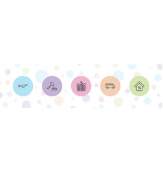 5 commercial icons vector