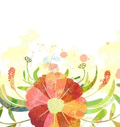 Abstract background with branch of floral vector