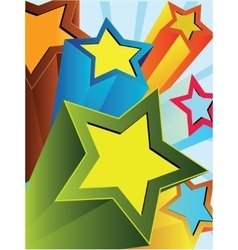Abstract background with colored stars vector