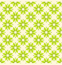 abstract flower seamless pattern green color vector image