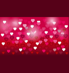 abstract pink heart bokeh background for vector image