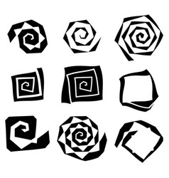 Abstract spirally swirl element geometric spirals vector