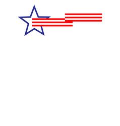 american flag symbols frame border banner vector image