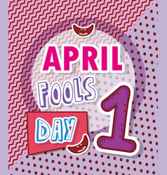 April fools day celebration with smiles vector