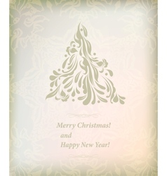 Beautiful card for merry Christmas vector image