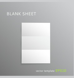 Blank folded paper sheet vector image