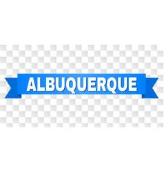 Blue tape with albuquerque title vector