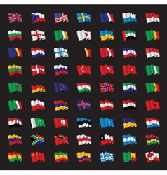 bunch of world flags vector image