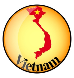 Button Vietnam vector